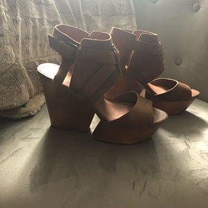 Dolce Vita leather platform sandals.